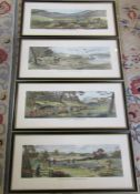 4 framed shooting engravings by T Sutherland - Grouse shooting, Partridge shooting, Pheasant