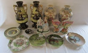 Various ceramics inc vases, figurine and plates etc