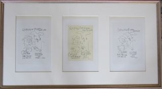 Pablo Picasso (1881-1973) triptych of lithographic prints (plate signed) Exposition Hispano