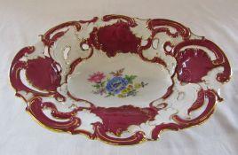 Early 20th century Meissen oval dish L 33 cm H 7 cm
