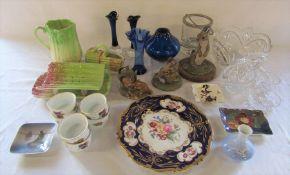 Assorted ceramics and glassware inc Sylvac, Akita, Border Fine Arts (1 af), Royal Doulton, Coalport,
