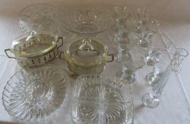 Various glassware inc 8 dessert dishes and tureens