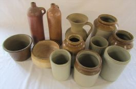 Assorted stoneware pots etc (some not shown in picture)