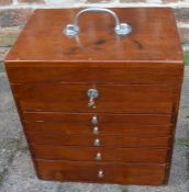 Mahogany dentists cabinet 37cm by 33cm by 27cm
