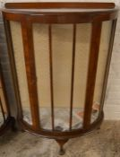 1930's bow fronted display cabinet Ht 114cm W 76cm