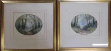 Hilary Scoffield (b.1958) pair of framed watercolours of rural scenes 36 cm x 34 cm (size
