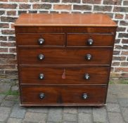 Victorian mahogany chest of drawers on replacement castors
