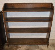 Oak bookcase Ht 104cm W 100cm