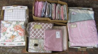Large quantity of pillow cases, bed sheets and duvet covers