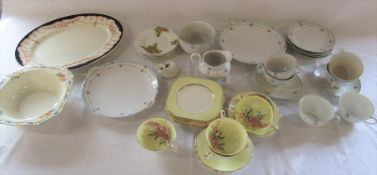 Selection of part tea services etc inc Paragon and Alfred Meakin