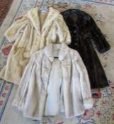 3 vintage ladies fur coats inc Mink