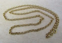 9ct gold necklace weight 4.1 g length 60 cm