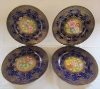 Set of 4 Caverswall 'Golden Seasons' cabinet plates painted by Neil Higgins limited edition 91/100