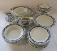 Adams Ironstone 'Brentwood' pattern part dinner service
