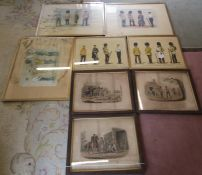 Assorted military prints (af) inc 2 limited edition Cecil Lawson prints signed and numbered in