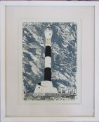 Pamela Guille A.R.C.A artist proof screenprint 'The Lighthouse' pencil signed and titled by the