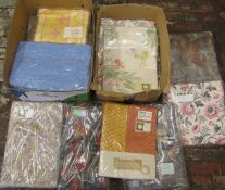 Large selection of patterned curtains