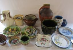 3 boxes of assorted ceramics inc meat plates, jug etc (sample shown)