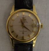 Omega Constellation steel & possibly 18ct gold gents automatic wrist watch