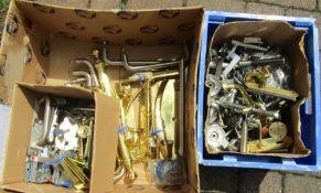 Large quantity of door handles, hinges etc