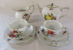 Herend porcelain part tea set for two