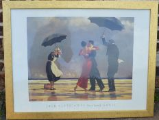 Frames Jack Vettriano print The Singing Butler. Frame size 88cm by 65cm