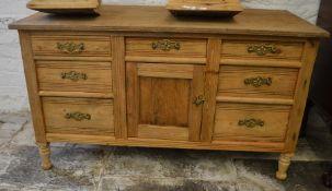 Victorian pine cabinet L 114cm H 66cm