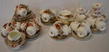 Royal Albert Old Country Rose & Lavender Rose pattern part tea services & one other