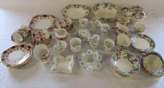 Assorted part tea sets inc Royal Cauldon 'Victoria', Colclough China and Crown Staffordshire