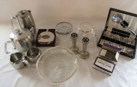 Selection of silver plate and stainless steel
