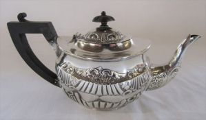 Small Victorian silver teapot H 11 cm total weight 12.20 ozt Birmingham 1892