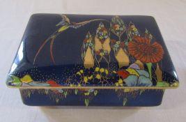 Carlton ware lustre 'fantasia' pattern trinket pot L 15.5 cm H 6.5 cm