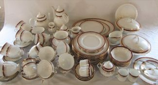 Quantity of Royal Grafton majestic pattern part dinner service inc tureens, meat plates, cake stand,
