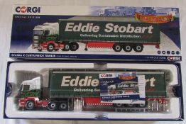 Corgi special edition Eddie Stobart Scania R curtainside trailer 1:50 die cast model