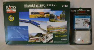 Boxed Kato Ho gauge unitrack & a boxed Kato power pack