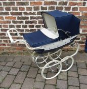 Silver Cross doll's pram with fleur de lis decoration