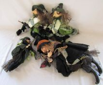 4 collectable witch dolls