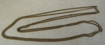 Tested as 9ct gold necklace (length 70 cm doubled up) weight 24.9 g