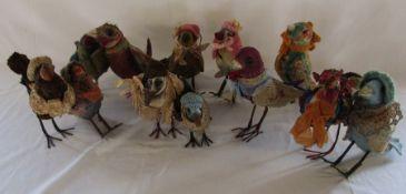 12 Daria Sikora OOAK handmade birds (primitive dolls)