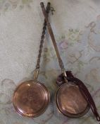 2 copper warming pans