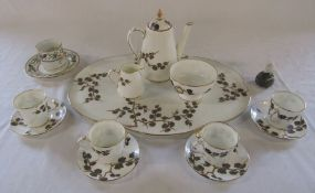 Part coffee service (af), Royal Copenhagen mouse (af) and an early 19th century porcelain cup and