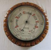 Marsh & Co Birmingham aneroid barometer D 34 cm