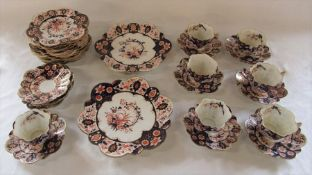 Shelley 'Late Foley' part tea service rd 118301 and 115510 pattern 6075 consisting of 7 cups and