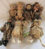 8 Daria Sikora OOAK handmade dolls/angels (primitive dolls)