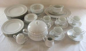 Noritake Ireland 'Tiffany' part dinner service inc meat plate, tureen and gravy boat (N519)