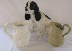 Large Leonardo collection spaniel dog H 35 cm, reproduction Minton 18th century Staffordshire
