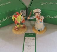 Boxed limited edition Beswick Punch & Judy with certificate 0536/2500 H 13 cm