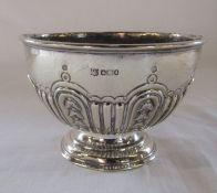 Edwardian silver pedestal bowl H 8 cm weight 3.87 ozt Sheffield hallmark (date letter