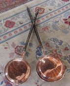 2 copper bed pans