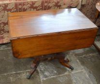 Regency style sofa table L 92 cm (af)